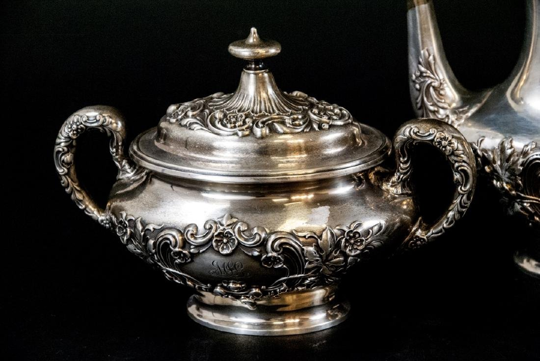 Antique Gorham Sterling Silver Tea / Coffee Set - 2
