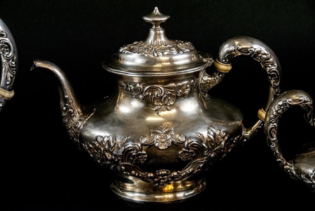 Antique Gorham Sterling Silver Tea / Coffee Set - 4