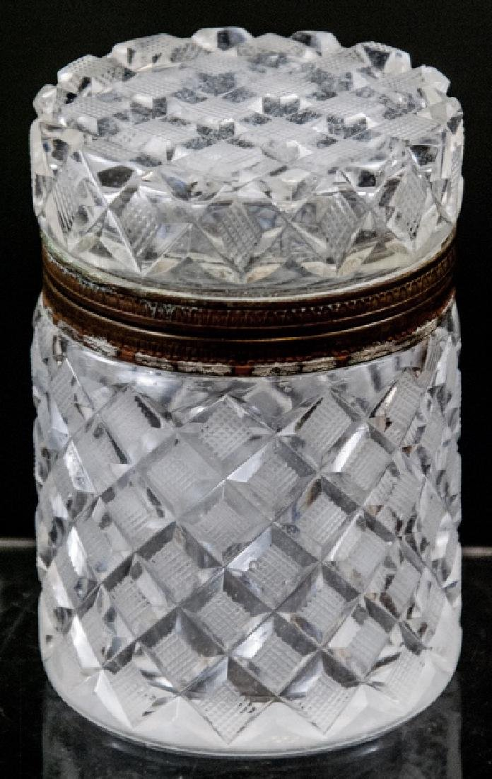 Antique French Cut Crystal Baccarat Style Box