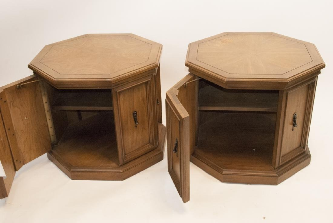 Pair of Mid Century Pedestal Side / End Tables - 2