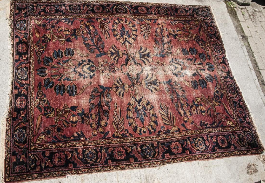Antique Oriental Sultanabad Style Carpet / Rug