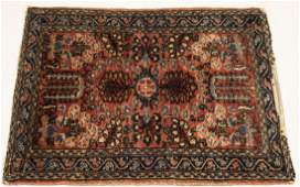 Antique Oriental Sultanabad Style Throw Rug