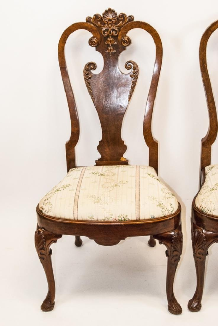 Pair of Antique Queen Anne Style Side Chairs - 2
