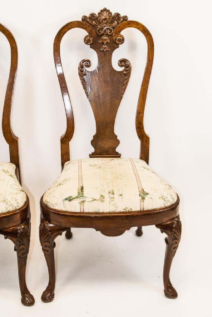 Pair of Antique Queen Anne Style Side Chairs - 3