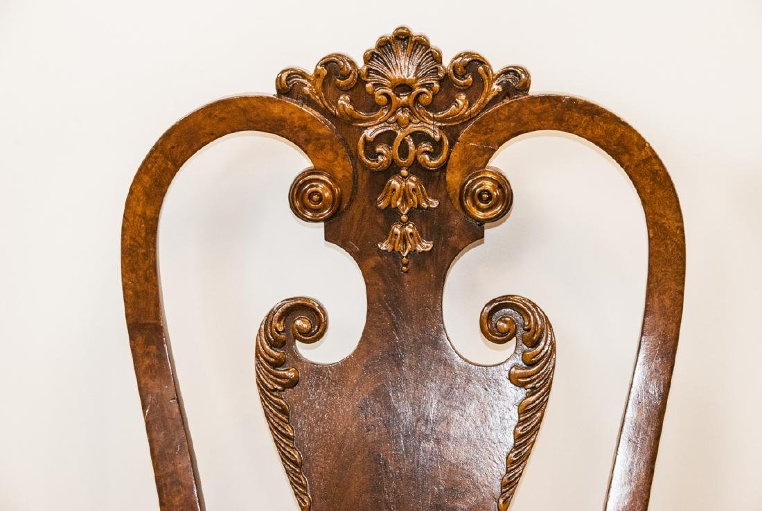 Pair of Antique Queen Anne Style Side Chairs - 5