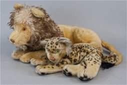 Vintage Steiff Animals Lion & Leopard