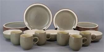 Vintage Denby Energy Stoneware Plate Service