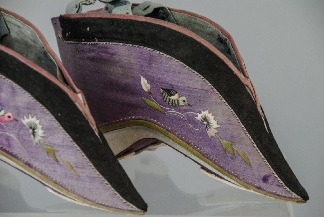 Antique / Vtg. Chinese Lotus / Foot Binding Shoes - 3