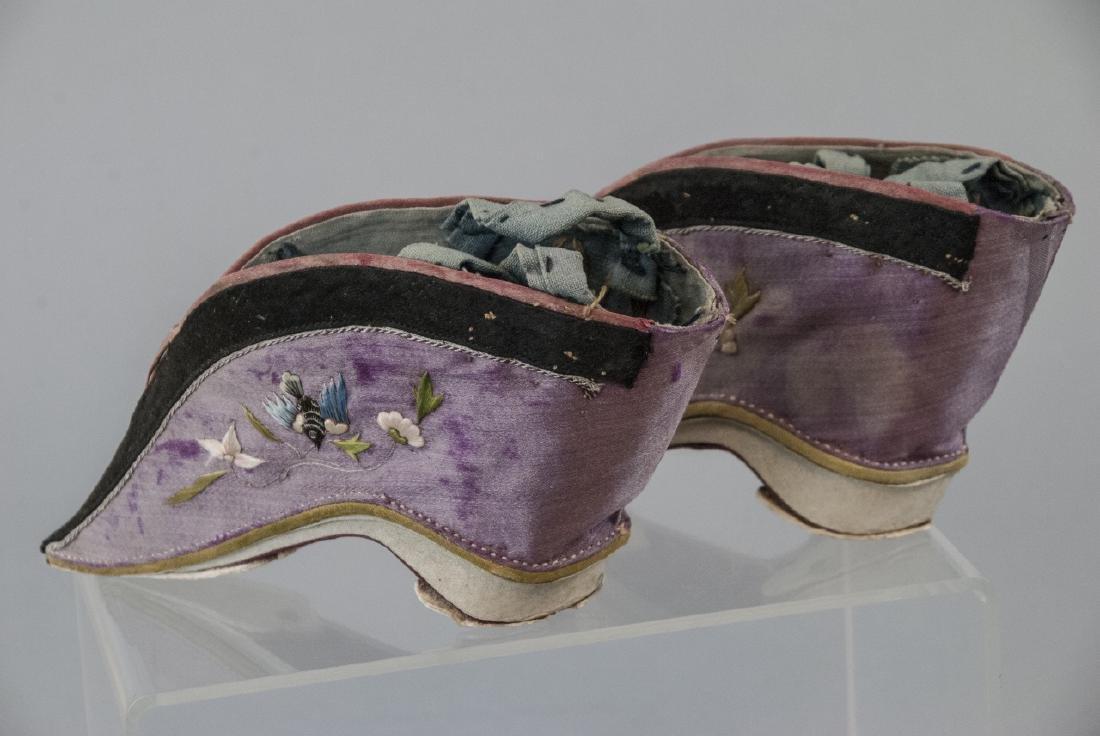 Antique / Vtg. Chinese Lotus / Foot Binding Shoes - 5