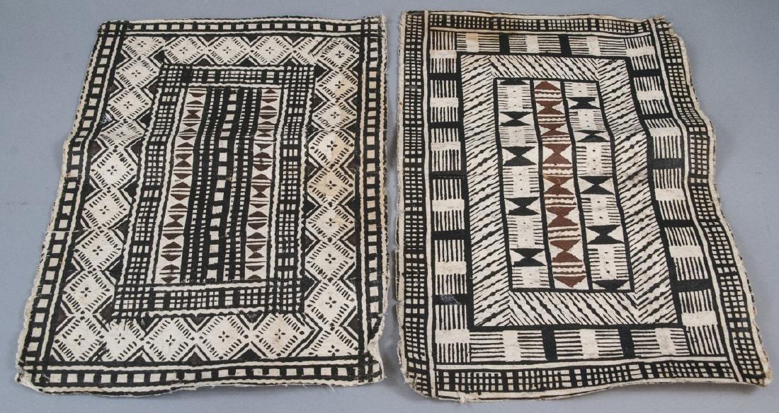 Mid Century Pair of African Geometric Tribal Art