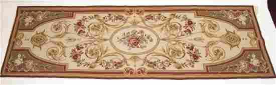 Aubusson Style Tapestry Needlepoint Rug  Runner