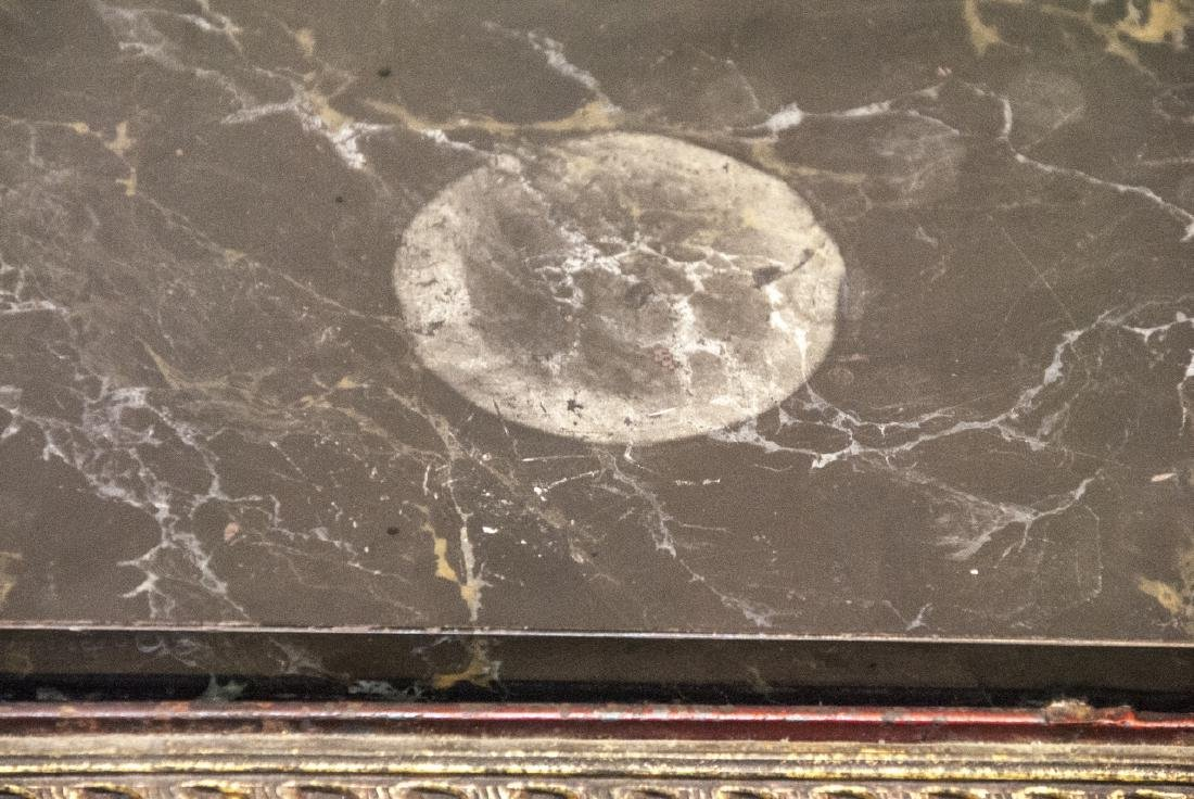 Hollywood Regency Wrought & Tole Marble Top Table - 6