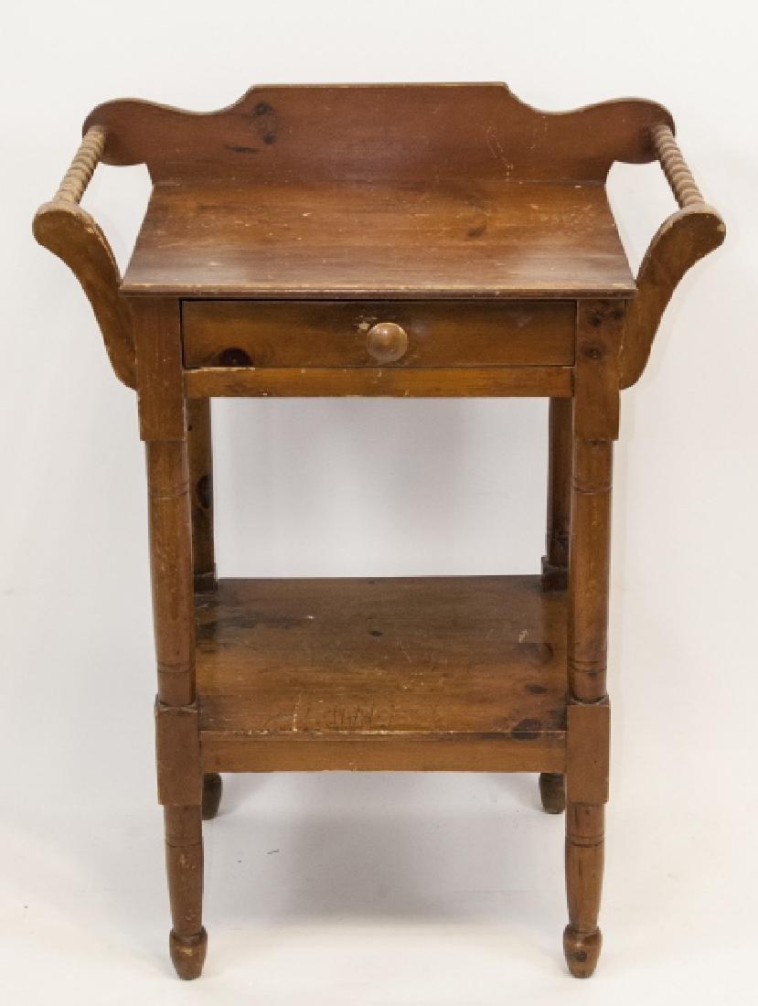 Antique Oak Wash Table / Side Table