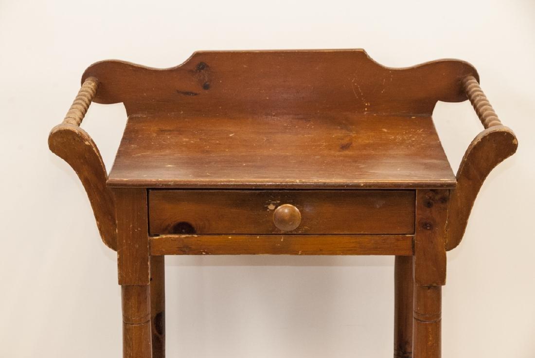 Antique Oak Wash Table / Side Table - 2