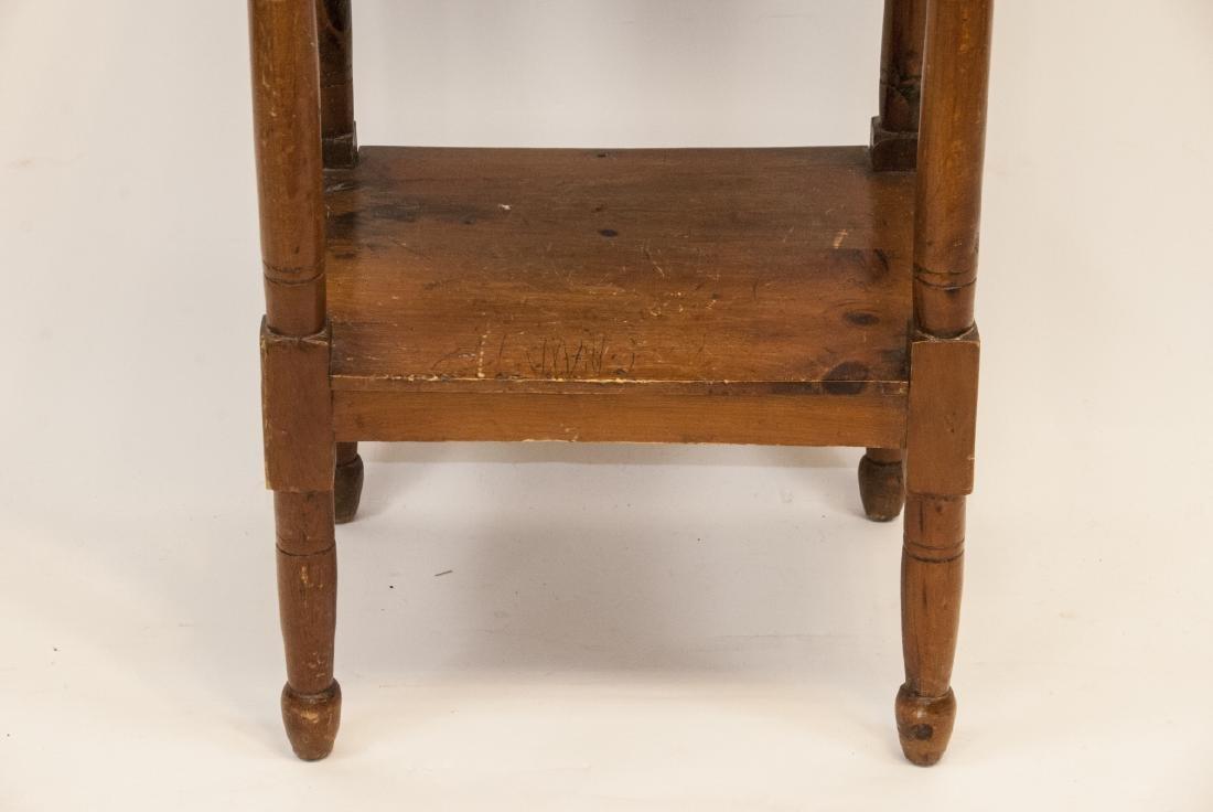Antique Oak Wash Table / Side Table - 3