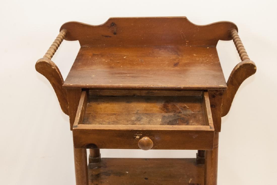 Antique Oak Wash Table / Side Table - 4