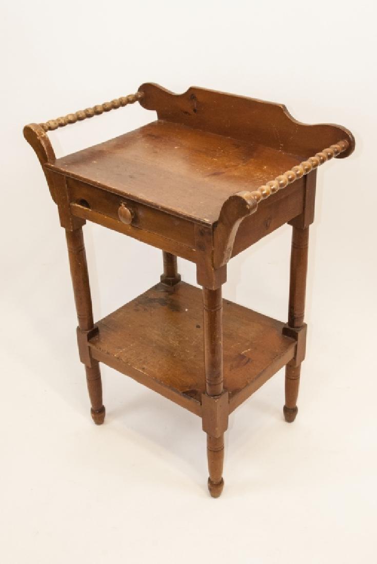 Antique Oak Wash Table / Side Table - 5