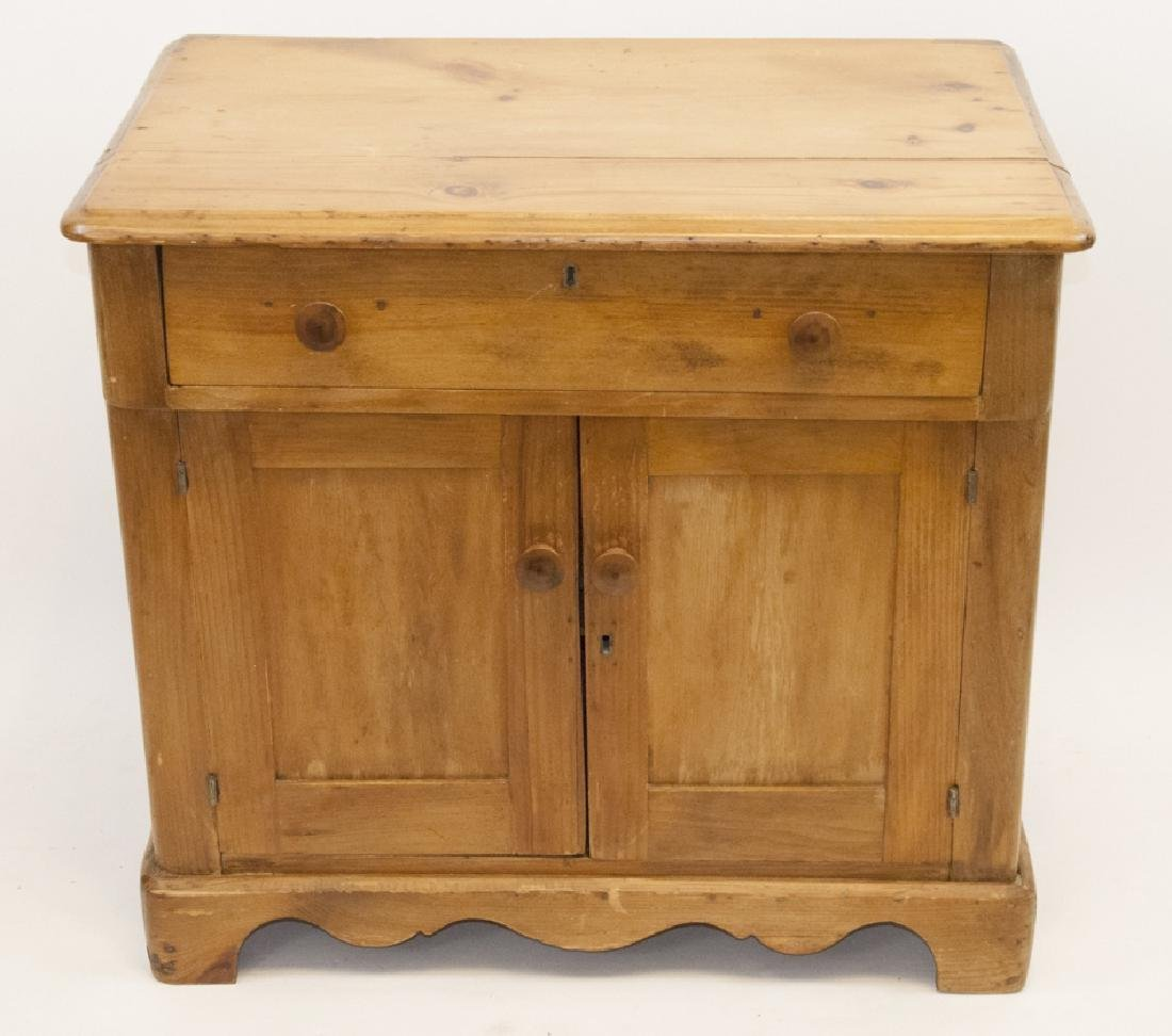 Antique Pine Country Cabinet / Side Table