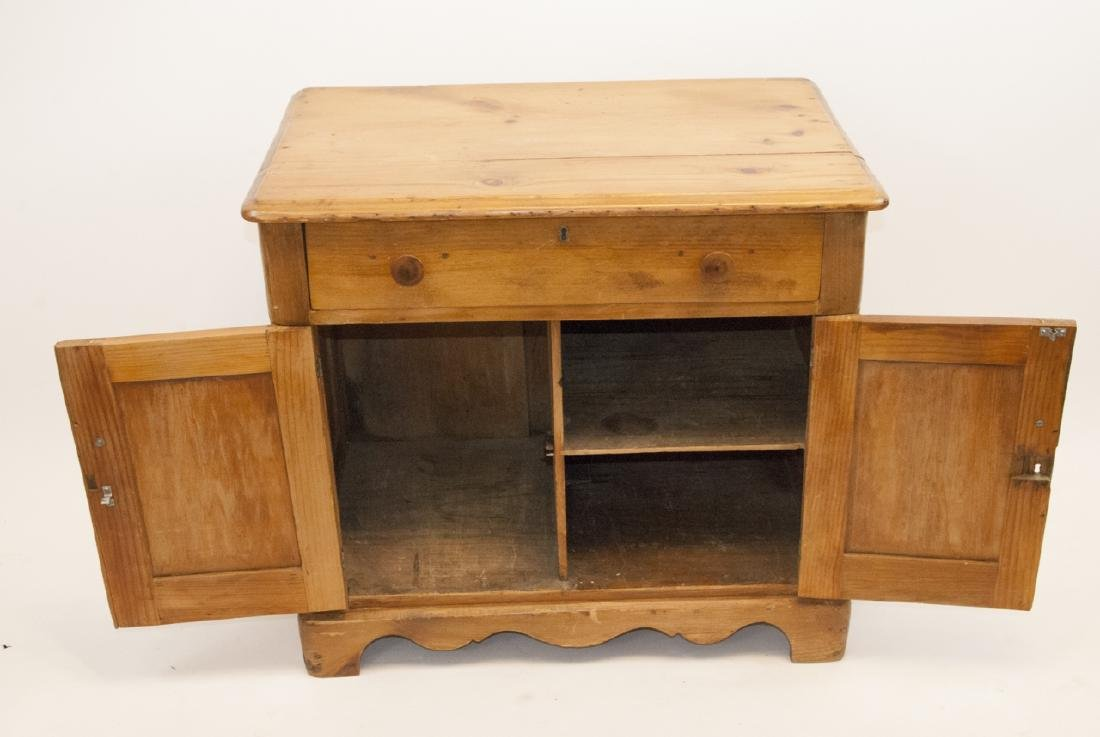 Antique Pine Country Cabinet / Side Table - 2