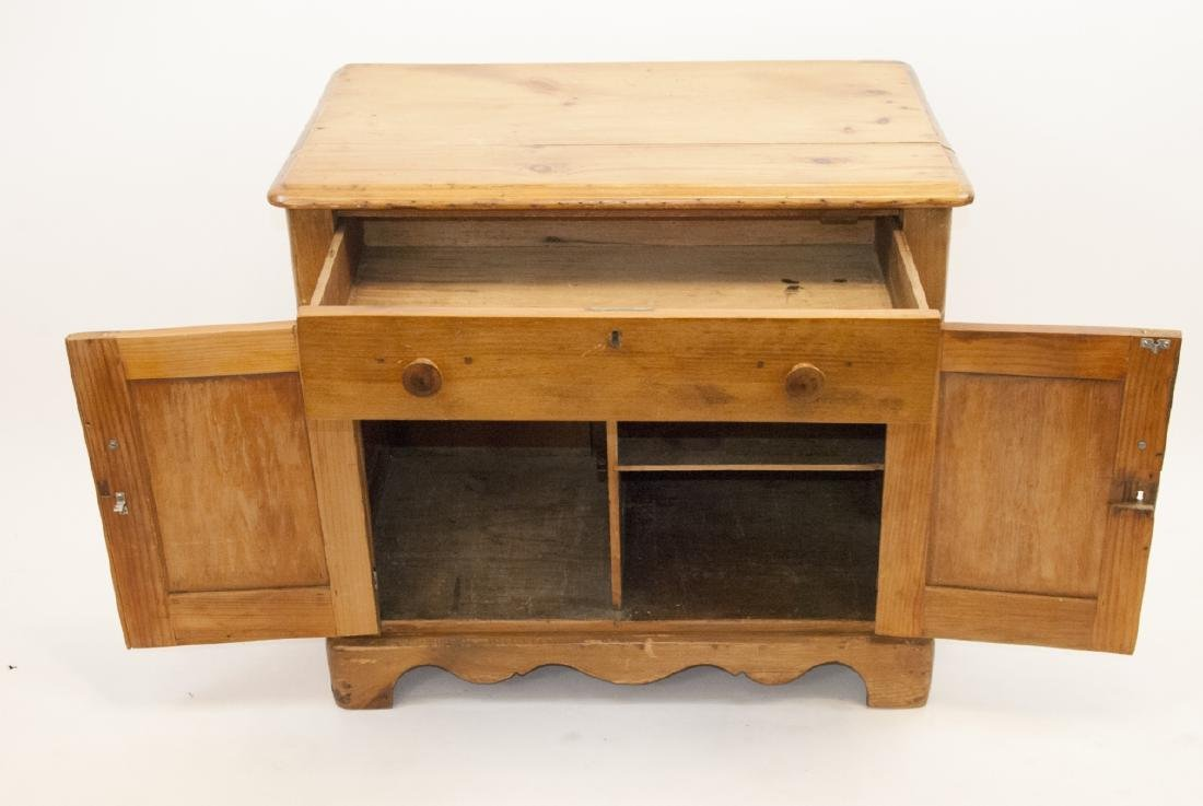 Antique Pine Country Cabinet / Side Table - 3