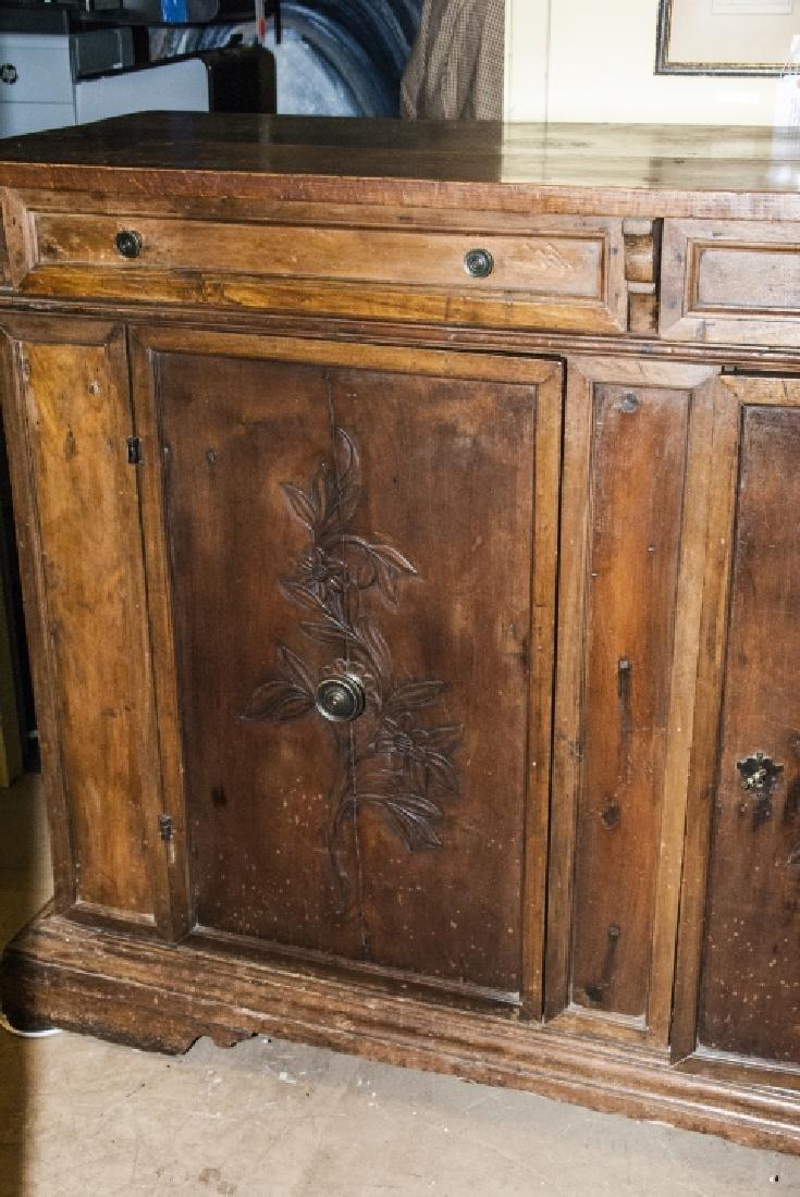 Antique  Arts & Crafts Style Carved Oak Sideboard - 3