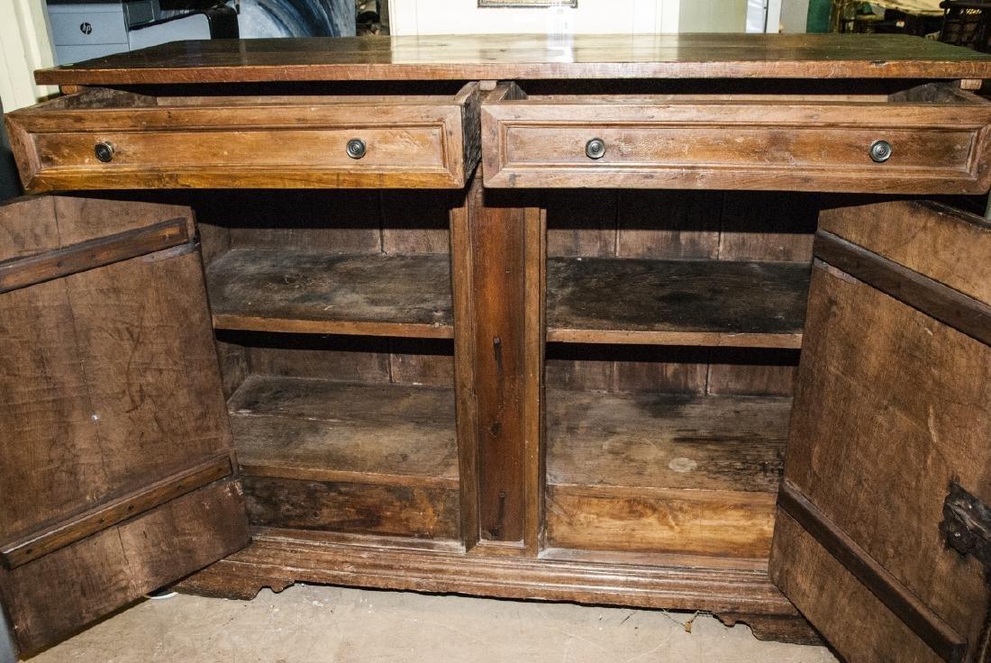 Antique  Arts & Crafts Style Carved Oak Sideboard - 5