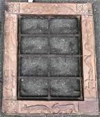 Mexican Folk Art Carved Wood & Metal Art Plaque