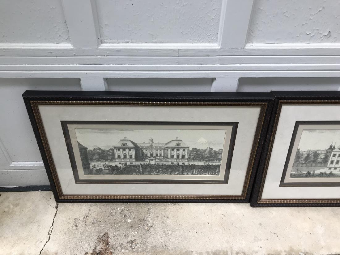 Pair of Antique French Framed Architectural Prints - 2