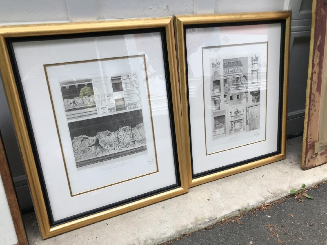Pair Antique Italian Framed Architectural Prints - 2