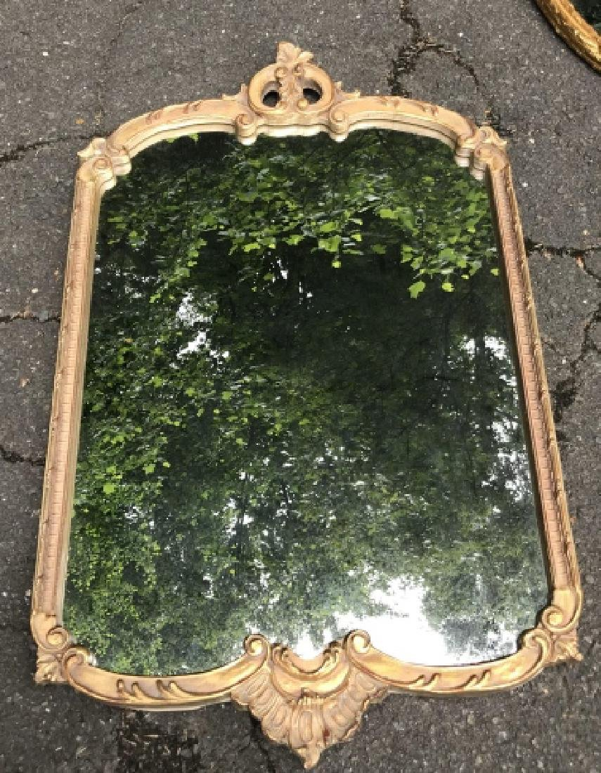 French Rococo Style Gold Tone Wall Mirror