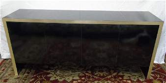Mid Century Modern Knoll Black Lacquered Sideboard