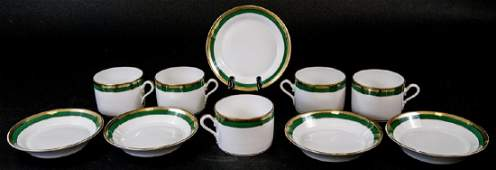 Italian Richard Ginori Porcelain Coffee Set