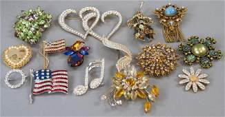Lot of Vintage Costume Pins / Brooches