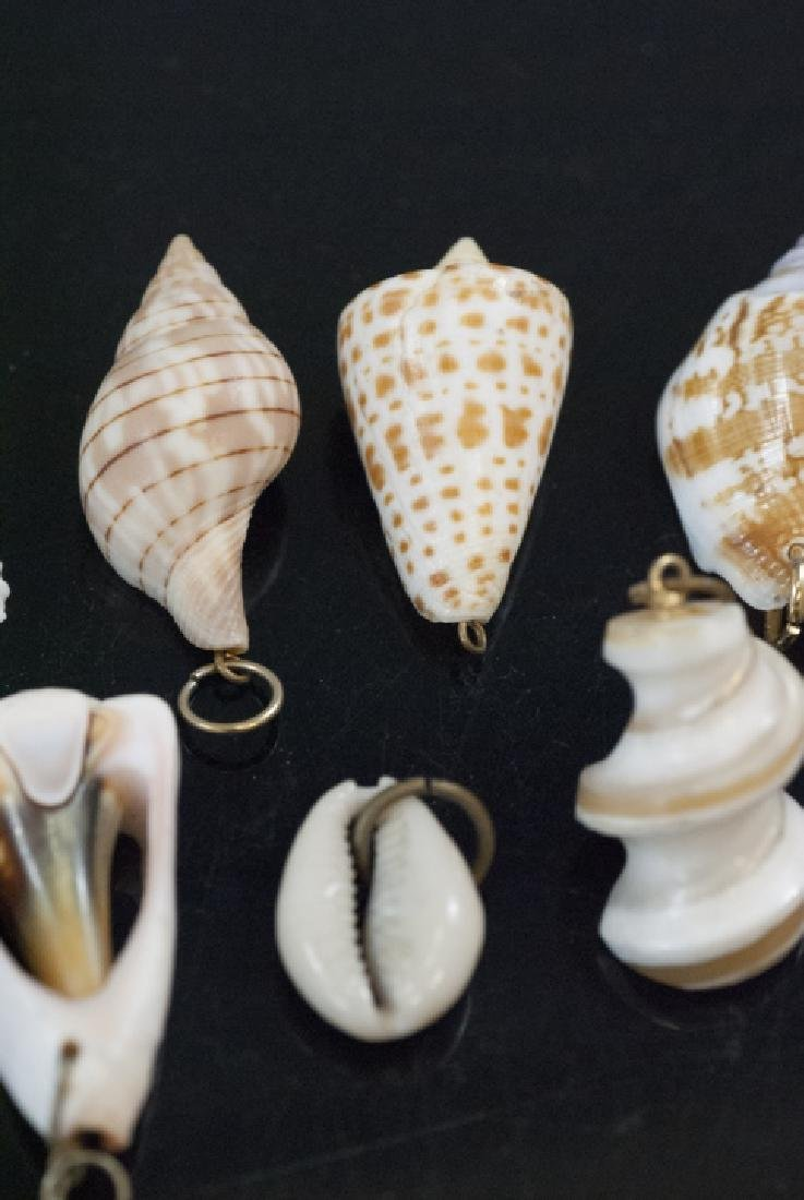 Group Natural Sea Shell Necklace Pendants Charms - 3