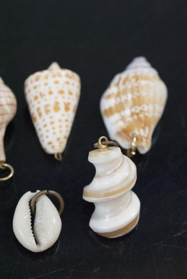 Group Natural Sea Shell Necklace Pendants Charms - 4