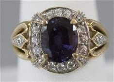 Vintage Yellow Gold & Diamond Ladies Cocktail Ring