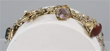 Vintage Costume Jewelry Gilt Metal Charm Bracelet