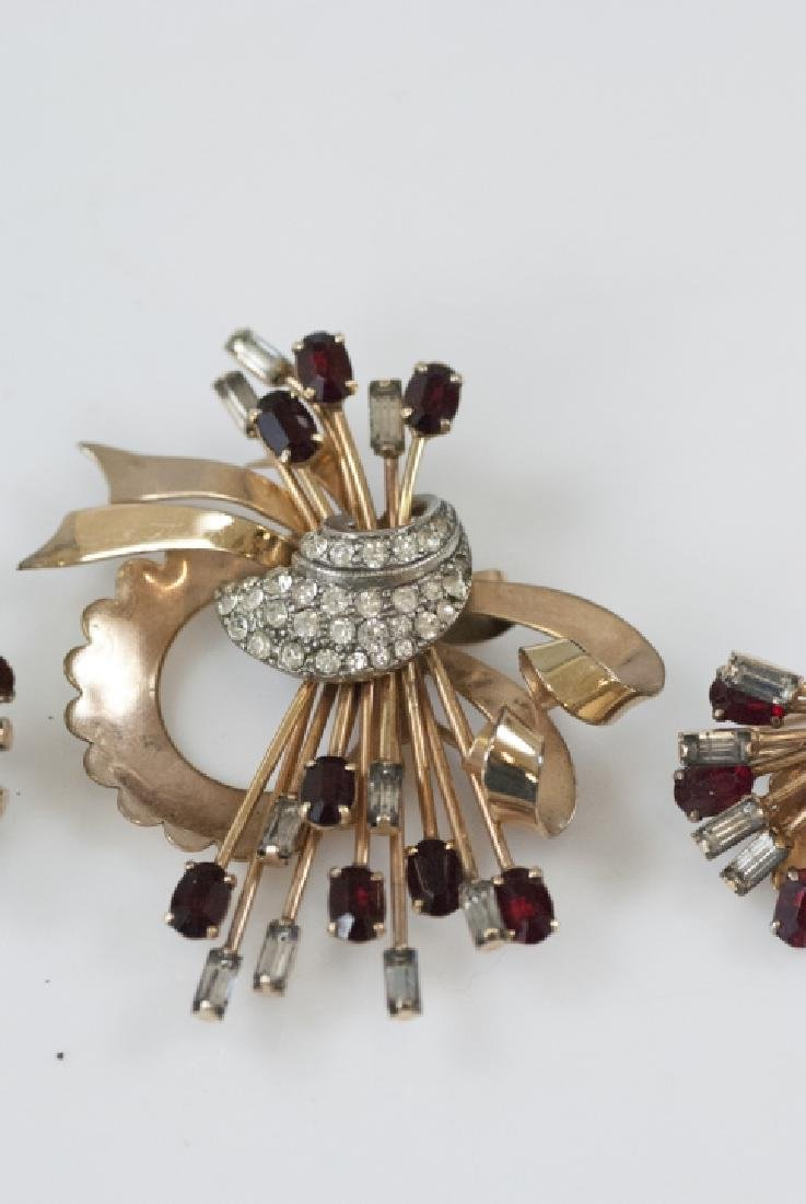 Mid Century Sputnik Gold Filled Jewelry Suite - 3