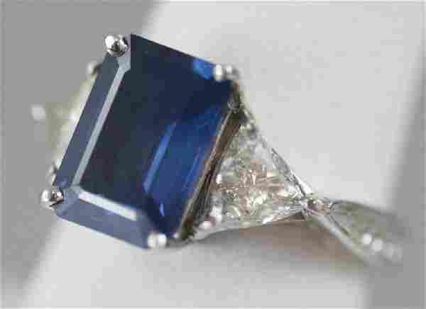 Estate 18kt White Gold 3.7 Carat Sapphire Ring