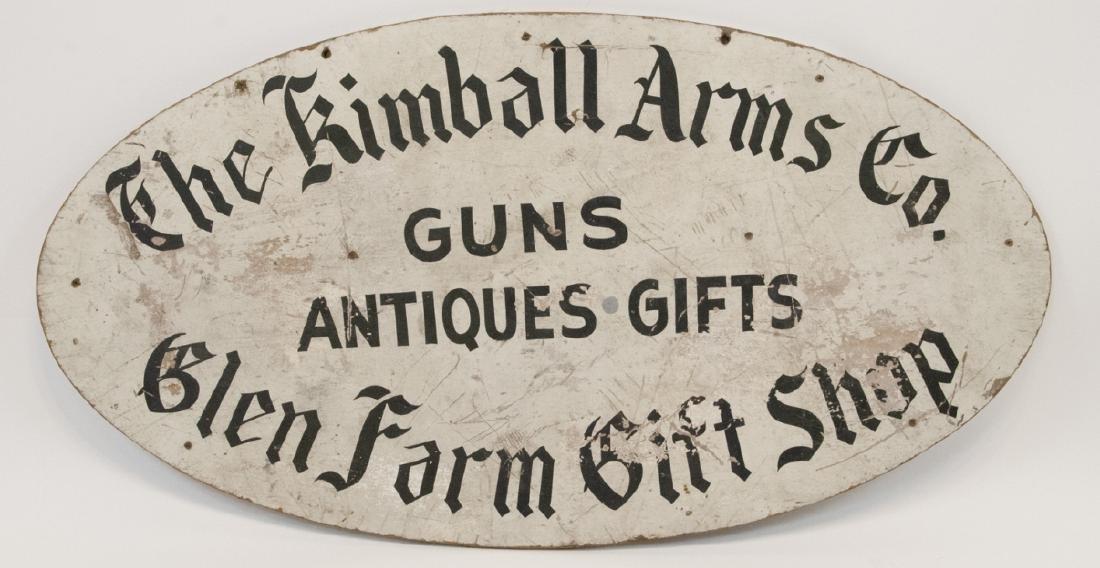 Antique Advertising Sign Gun,Gift & Antique Shop
