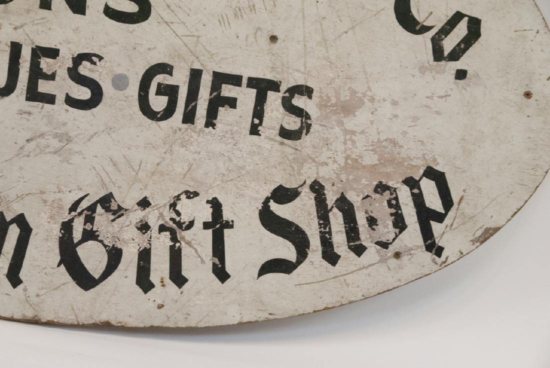 Antique Advertising Sign Gun,Gift & Antique Shop - 2