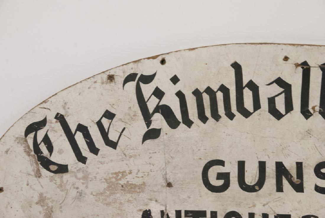 Antique Advertising Sign Gun,Gift & Antique Shop - 3