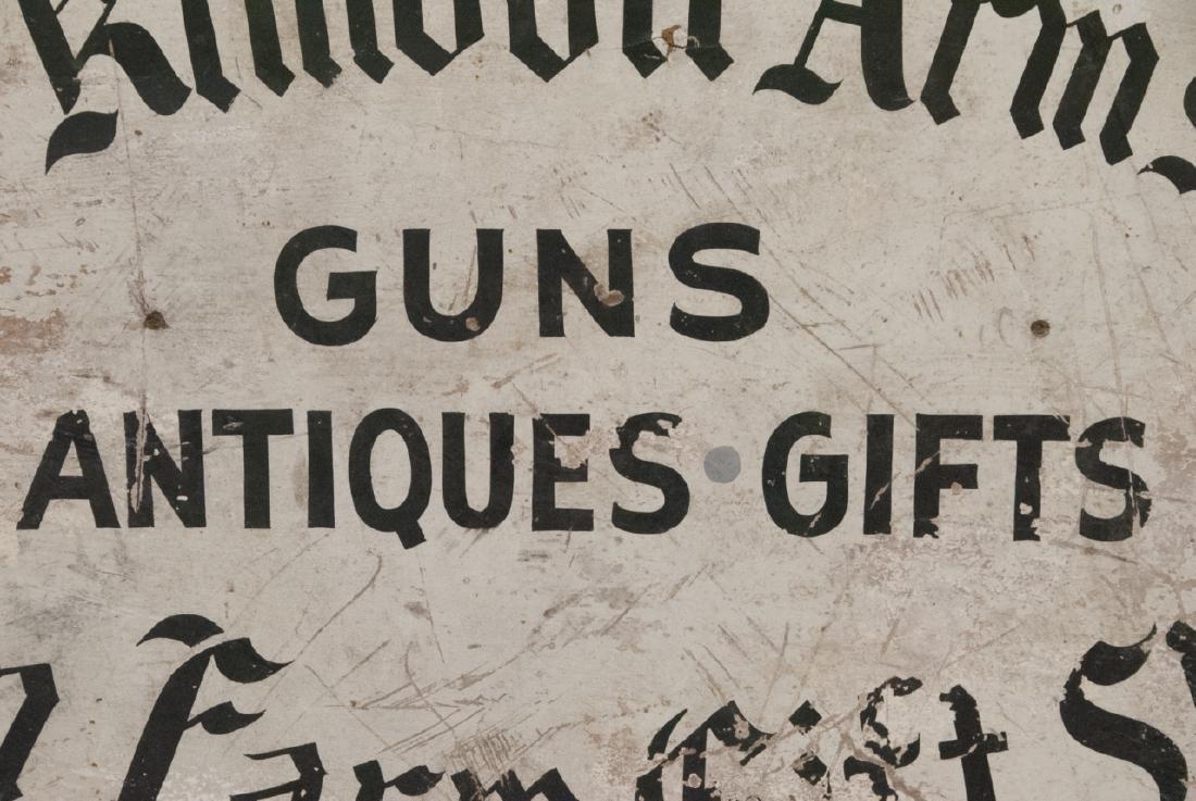 Antique Advertising Sign Gun,Gift & Antique Shop - 5