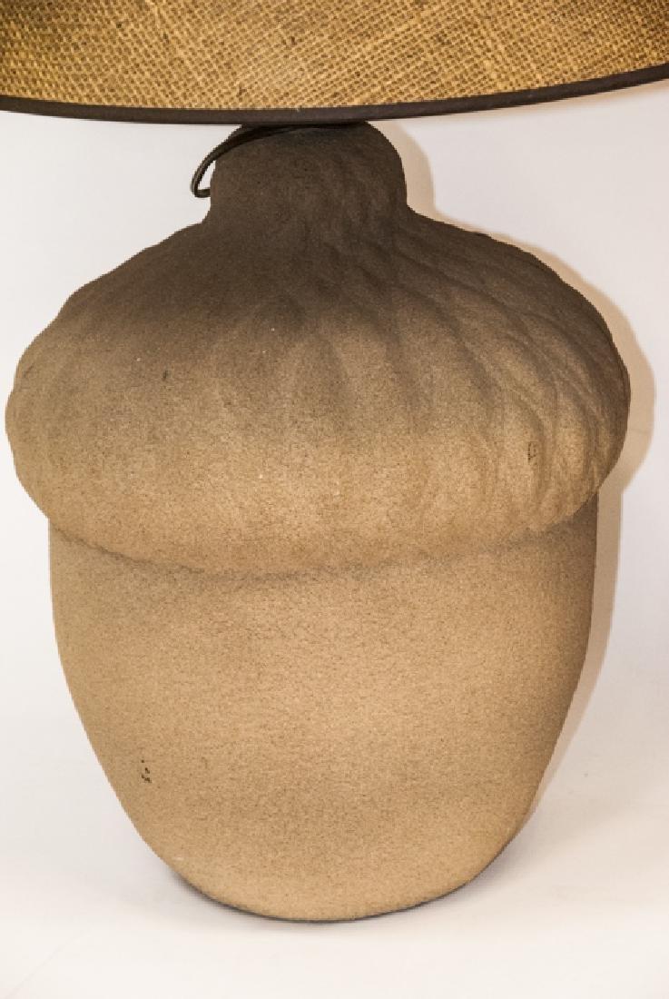 Pair of Mid C Acorn Form Ceramic Table Lamps - 5