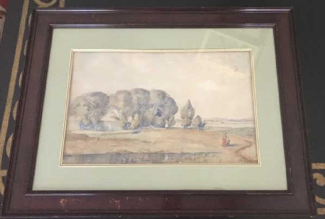 Antique GF Loring Framed Watercolor Painting