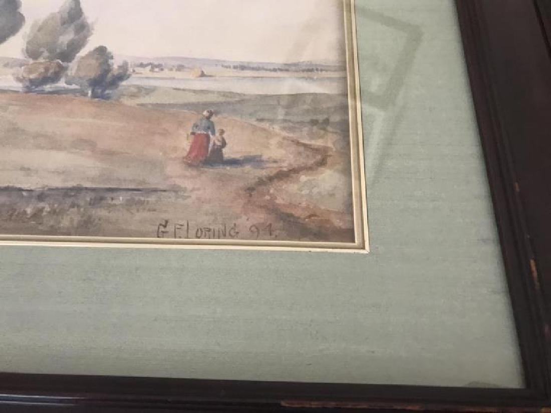 Antique GF Loring Framed Watercolor Painting - 3