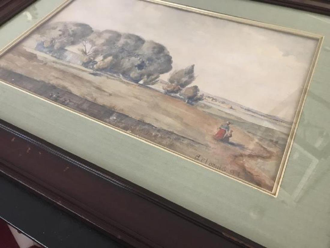 Antique GF Loring Framed Watercolor Painting - 4