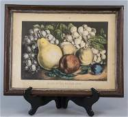 Antique Currier & Ives Hand Colored Lithograph
