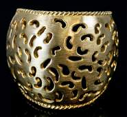 Vintage Costume Gold-Tone Cut-Out Cuff