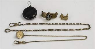 Antique Victorian Jewelry Items  Watch Chains